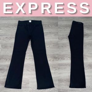 NEW Express Mid Rise Stretch Boot Jeans; 6R